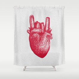 Party heart Shower Curtain