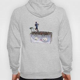 Cassette Tape Running Treadmill Hoody