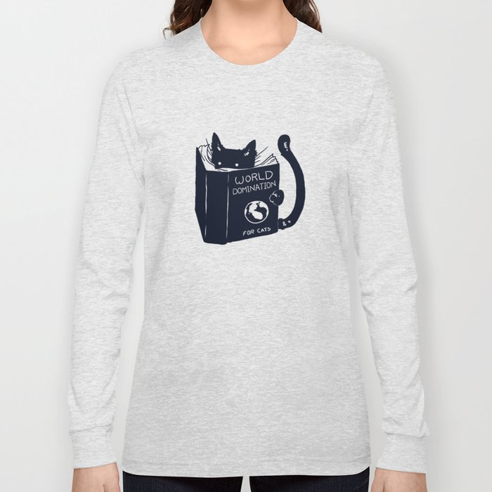 world domination for cats long sleeve t shirt by