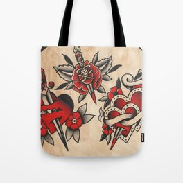hearts and daggers Tote Bag