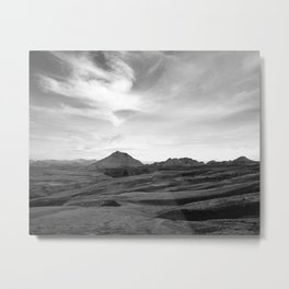 Iceland, the other side of the mountains. Metal Print
