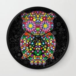 Owl Zentangle Floral   Wall Clock
