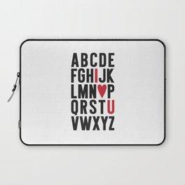 ABC I Love You Laptop Sleeve