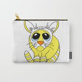 Hand drawn funny looking cat Carry-All Pouch