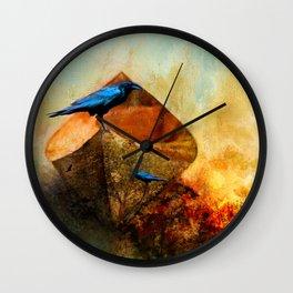 Beached Crow Wall Clock