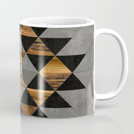 Urban Tribal Pattern No.10 - Aztec - Concrete and Wood Coffee Mug