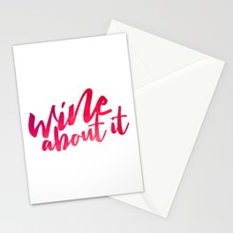 Wine About it Stationery Cards