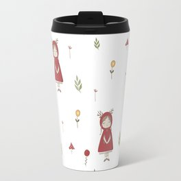 Little Red Riding Hood Girl with Antlers Travel Mug