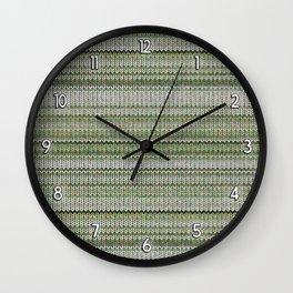 Cactus Garden Knit 3 Wall Clock