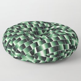 Green set of tiles - movie style Floor Pillow