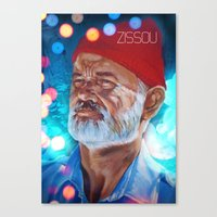 zissou Canvas Prints featuring Zissou by The Notorious Gasoline Company