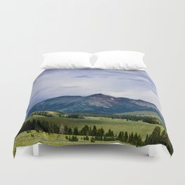 Electric Peak Yellowstone Duvet Cover