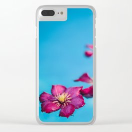 Floating Petals 03 (Set of 3) Clear iPhone Case