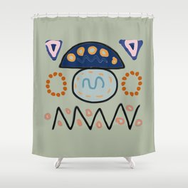 Memphis Minimalism With Turkish Influence Shower Curtain
