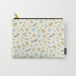 Colorful Insects and Bugs > illustration > yellow repeat pattern Carry-All Pouch