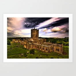 St Davids Cathedral Art Print