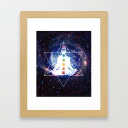 Merkaba Lightbody Chakra Meditation Framed Art Print