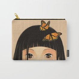 Black with Butterflys Carry-All Pouch