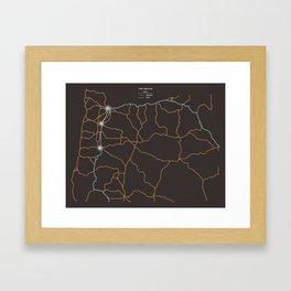 Oregon Highways Framed Art Print