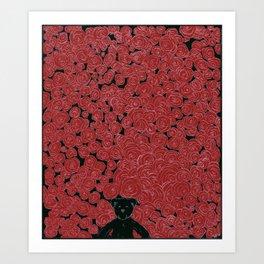 Rose Bed Art Print