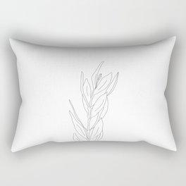 Minimal Olive Branch Illustration Rectangular Pillow
