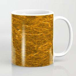 Horizontal metal texture of bright highlights on bronze waves. Coffee Mug