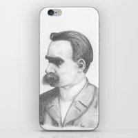 nietzsche iPhone & iPod Skins featuring Friedrich Nietzsche by tavislea