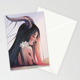 devil girl Stationery Cards