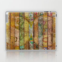 Around the World in Thirteen Maps Laptop & iPad Skin
