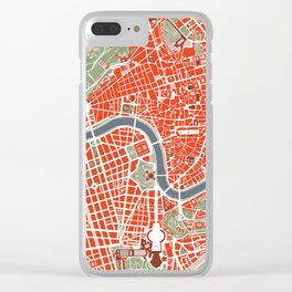Rome city map classic Clear iPhone Case