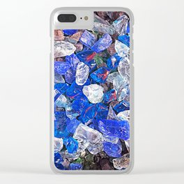Blue On The Rocks Clear iPhone Case