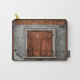 Old wooden shutters close window Carry-All Pouch