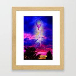 Heavenly apparition Framed Art Print