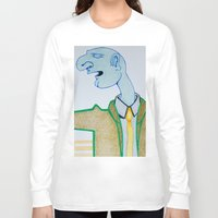 cigarette Long Sleeve T-shirts featuring Cigarette by Grant Czuj