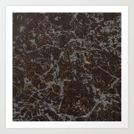 Crystallized gold stone texture Art Print