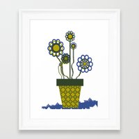 leah flores Framed Art Prints featuring Flores by Constant