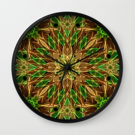 Nature Star Mandala Wall Clock