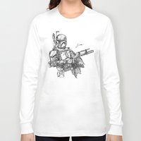 boba fett Long Sleeve T-shirts featuring Boba Fett by Leamartes