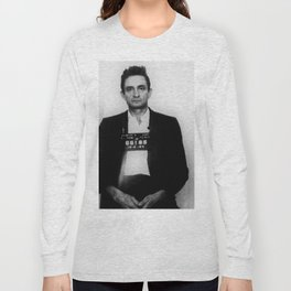 Johnny Cash Mug Shot Vertical Long Sleeve T-shirt