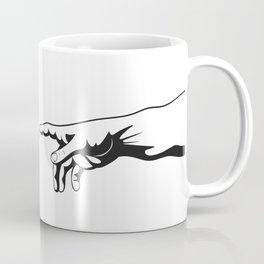 Adam and God hands Coffee Mug