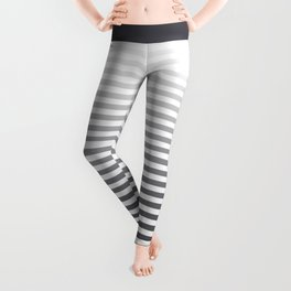 Gray and White Ombre Stripes Leggings