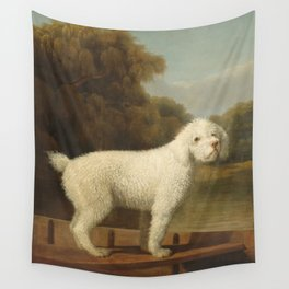 George Stubbs - White Poodle in a Punt Wall Tapestry