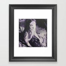 Purple Ling Framed Art Print