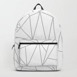 Geometric Cobweb (Gray & White Pattern) Backpack