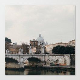 River Tiber & Vatican Canvas Print
