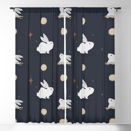 Bunnies on the Moon (Patterns Please) Blackout Curtain