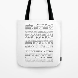 Jonathan Edwards Resolutions Tote Bag
