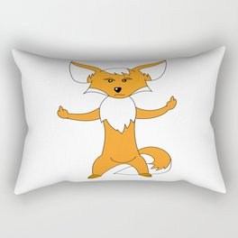 angry fox gift middle finger Rectangular Pillow