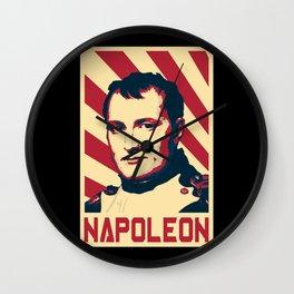 Napoleon Bonaparte Retro Propaganda Wall Clock