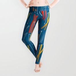 Colorful Ski Pattern Leggings